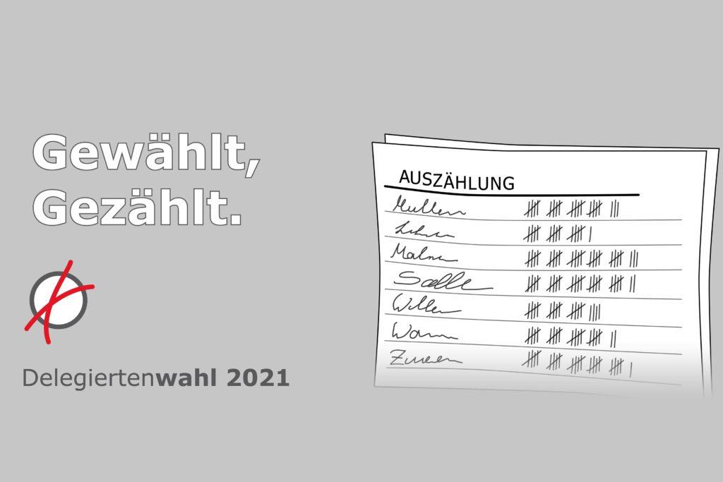 Delegiertenwahl 2021 – Wahlergebnis